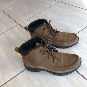 Lands End Woman's Suede Walking Boots. Size 9.5
